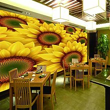 Wandtapete 3D Für Benutzerdefinierte Sonnenblume