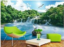 Wandtapete Fototapete 3D Diy Seewaldwasserfall,