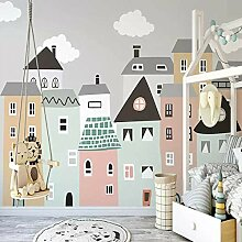 Wandtapete Für Kinderzimmer Handgemalte Kleine