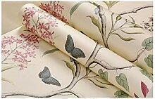 Wandtapete mit Blumenmotiv und Vogel für Wände,
