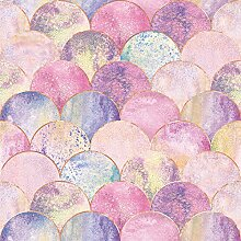 Wandtapete mit glänzender Skala, selbstklebend,