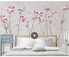 Wandtapete mit Magnolien-Motiv und