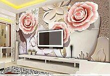 Wandtapete mit Rosenmotiv, groß, About 400 *