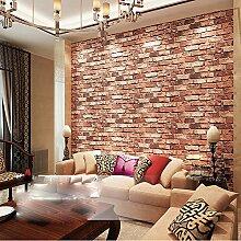 Wandtapete mit Ziegelsteinen, geprägt,
