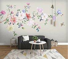 Wandtapete Tapete 3D Diy Blumen- Und Vogelmagnolie