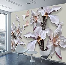 Wandtapete/Wandtapete mit Blumen-Prägung, für