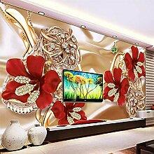 Wandtapete/Wandtapete mit Blumenmotiv, modern,