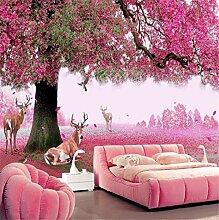 Wandtapete/Wandtapete mit Kirschblüten-Motiv, 3D,
