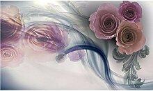Wandtapete/Wandtapete mit Rosen-Motiv,