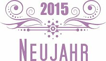 Wandtattoo 2015, Neujahr, Ornament East Urban Home