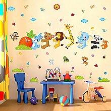 Wandtattoo Affen Sticker XXL Baby Tiere Kinder