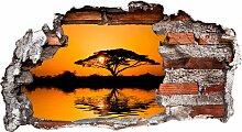Wandtattoo Afrika 60x32 cm bunt Wandtattoos Natur
