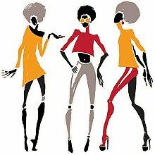Wandtattoo Afrika Frauen modischer Look