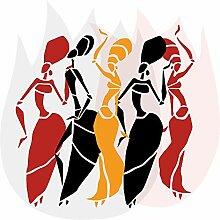 Wandtattoo Afrika Frauen Wandsticker Figuren