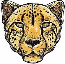 Wandtattoo Afrika Leopard Wandsticker Dekoration