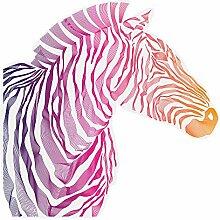 Wandtattoo Afrika Zebra bunt Wandsticker Tiere