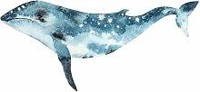 Wandtattoo Aquarell Wal in blau Wandsticker