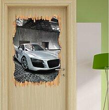 Wandtattoo Audi R8 silber East Urban Home