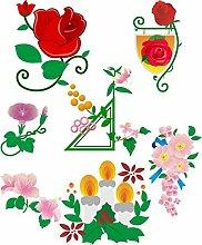 Wandtattoo/Aufkleber be39- A2-Bogen - verschiedene lustige Aufkleber für Kinder auf einem A2-Bogen schöne Blumen