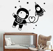 Wandtattoo Aufkleber Tapete Astronaut Space Star