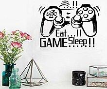 Wandtattoo Aufkleber Tapete Eat Sleep Game Gamepad