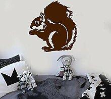 Wandtattoo Aufkleber Tapete Eichhörnchen Tier