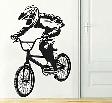 Wandtattoo Aufkleber Tapete Fahrrad Radfahrer