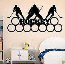 Wandtattoo Aufkleber Tapete Hockey Kunst Name