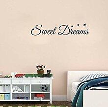 Wandtattoo Aufkleber Tapete Sweet Dreams Sterne