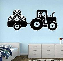 Wandtattoo Aufkleber Tapete Traktor Vinyl Jungen