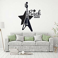 wandtattoo aufkleber wasserdicht rock club music