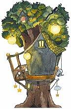 Wandtattoo Baumhaus für die Elfen- und Feentür