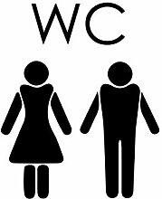 Wandtattoo-bilder® Türaufkleber WC Aufkleber