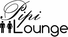 Wandtattoo-bilder® Wandtattoo Pipi Lounge Nr 1