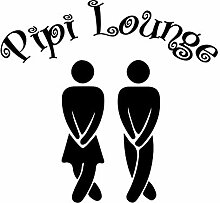 Wandtattoo-bilder® Wandtattoo Pipi Lounge Nr 2