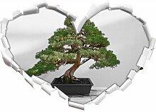 Wandtattoo Bonsai Baum auf Holztisch East Urban