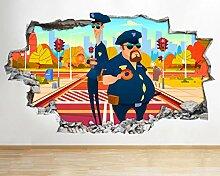 Wandtattoo Cartoon Polizei Lustige Kinder