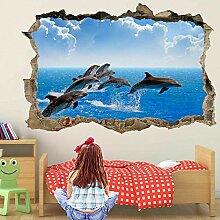 wandtattoo Delphin Wandkunst Aufkleber Wandtattoo