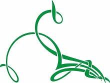 WANDTATTOO e423 hübsche Skulptur Tribal Ranke Pflanze Blume Blüte Blatt 120x90 cm - grün