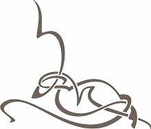 WANDTATTOO e430 atemberaubende Skulptur Tribal Ranke Pflanze Blume Blüte Blatt 96x82 cm - braun