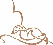 WANDTATTOO e430 atemberaubende Skulptur Tribal Ranke Pflanze Blume Blüte Blatt 96x82 cm - hellbraun