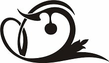 WANDTATTOO e451 stylischer Kreis Skulptur Tribal Ranke Pflanze Blume Blüte Blatt 120x88 cm - schwarz