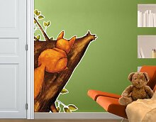 WandTattoo Eichhörnchen auf dem Weg zu den Hasen Kinderzimmer, Einhörnchen, Hazel Nut, Häschen, Waldtiere