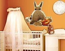 WandTattoo Eichhörnchen versteckt sich Kinderzimmer, Einhörnchen, Hazel Nut, Hasen, Waldtiere