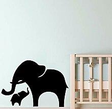 Wandtattoo Elefant Wandaufkleber Abnehmbare Diy