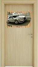 Wandtattoo Eleganter Audi silber East Urban Home