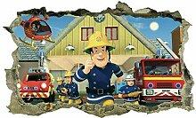 Wandtattoo Feuerwehrmann, Aufkleber, Aufkleber,