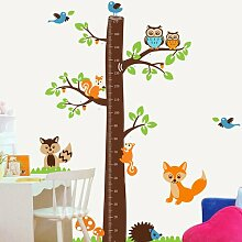 Wandtattoo Fox Tree Height Measure Roomie Kidz