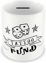 Wandtattoo Fund Money Box-Münzen, Sparschwein savings Geschenkidee Geschenk #73