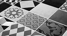 Wandtattoo Geometrische Graffiti Fliesenmuster Küche Dekoration Ideen (Packung mit 48) (BODEN - 10 x 10 cm)